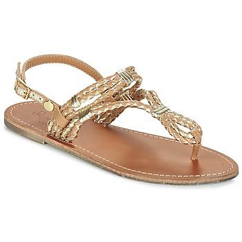 Schuhe Damen Sandalen / Sandaletten Pepe jeans JANE WOVEN METALLIC Braun