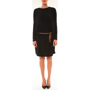 Kleidung Damen Kurze Kleider Dress Code Robe 53021 noir Schwarz