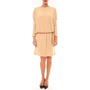 Kleidung Damen Kurze Kleider Dress Code Robe 53021 beige Beige