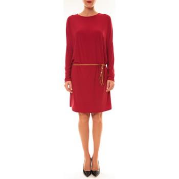Kleidung Damen Kurze Kleider Dress Code Robe 53021 bordeaux Rot