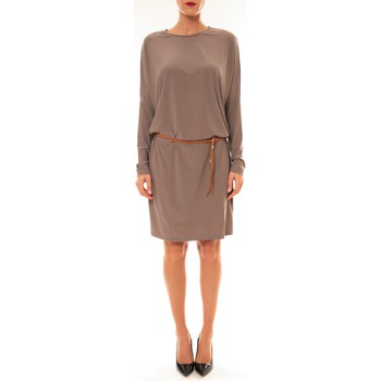 Kleidung Damen Kurze Kleider Dress Code Robe 53021 taupe Braun