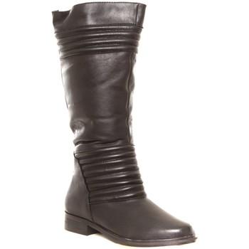 Schuhe Damen Gummistiefel Cassis Côte d'Azur Ilario Ferucci Bottes en cuir Galeane noir Schwarz