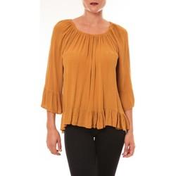 Kleidung Damen Tops / Blusen By La Vitrine Blouse Giulia moutarde Gelb