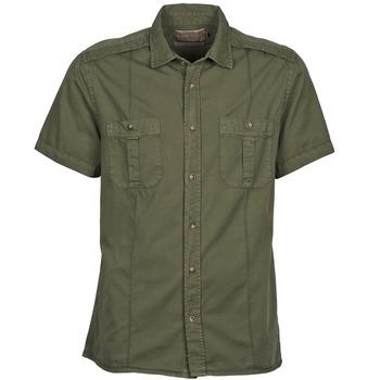 Kleidung Herren Kurzärmelige Hemden Chevignon C MILITARY TWIL Grün