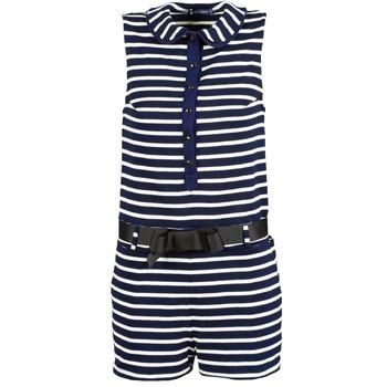 Kleidung Damen Overalls / Latzhosen Petit Bateau FAITOUT Marine / Weiss