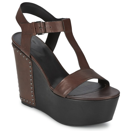 Vic GIBSON Braun  Schuhe Sandalen / Sandaletten Damen 167,30