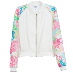 Kleidung Damen Jacken Brigitte Bardot BB44045 Weiss / Multicolor