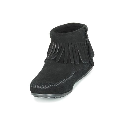Minnetonka CONCHO FEATHER  SIDE ZIP BOOT Schwarz  FEATHER Schuhe Boots Damen 75,99 f26061