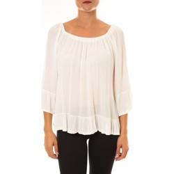 Kleidung Damen Tops / Blusen By La Vitrine Blouse Giulia blanc Weiss