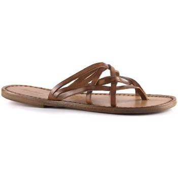 Schuhe Damen Pantoffel Gianluca - L'artigiano Del Cuoio 543 D CUOIO CUOIO Cuoio