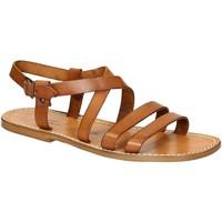 Schuhe Herren Sandalen / Sandaletten Gianluca - L'artigiano Del Cuoio 531 U CUOIO CUOIO Cuoio