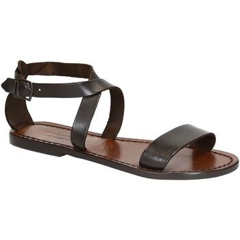 Schuhe Damen Sandalen / Sandaletten Gianluca - L'artigiano Del Cuoio 509 D MORO CUOIO Testa di Moro