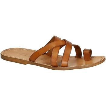 Schuhe Herren Sandalen / Sandaletten Gianluca - L'artigiano Del Cuoio 549 U CUOIO CUOIO Cuoio