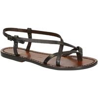 Schuhe Damen Sandalen / Sandaletten Gianluca - L'artigiano Del Cuoio 537 D MORO CUOIO Testa di Moro