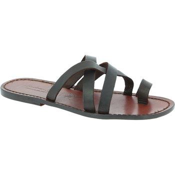 Schuhe Herren Sandalen / Sandaletten Gianluca - L'artigiano Del Cuoio 549 U MORO CUOIO Testa di Moro