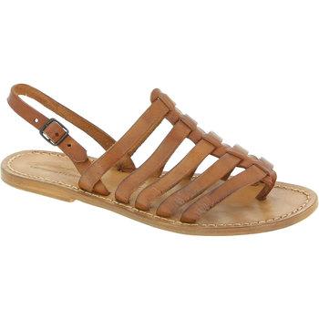 Schuhe Damen Sandalen / Sandaletten Gianluca - L'artigiano Del Cuoio 576 D CUOIO CUOIO Cuoio