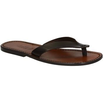 Schuhe Herren Zehensandalen Gianluca - L'artigiano Del Cuoio 541 U MORO CUOIO Testa di Moro