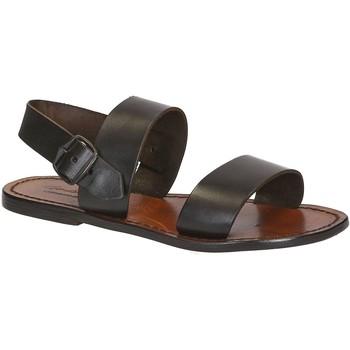 Schuhe Damen Sandalen / Sandaletten Gianluca - L'artigiano Del Cuoio 500 D MORO CUOIO Testa di Moro