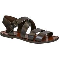 Schuhe Damen Sandalen / Sandaletten Gianluca - L'artigiano Del Cuoio 508 D MORO CUOIO Testa di Moro