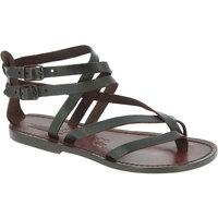 Schuhe Damen Sandalen / Sandaletten Gianluca - L'artigiano Del Cuoio 574 D MORO CUOIO Testa di Moro