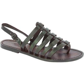 Schuhe Damen Sandalen / Sandaletten Gianluca - L'artigiano Del Cuoio 576 D MORO CUOIO Testa di Moro