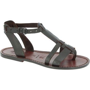 Schuhe Damen Sandalen / Sandaletten Gianluca - L'artigiano Del Cuoio 572 D MORO CUOIO Testa di Moro