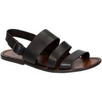 Schuhe Herren Sandalen / Sandaletten Gianluca - L'artigiano Del Cuoio 507 U MORO CUOIO Testa di Moro