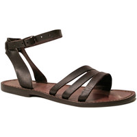 Schuhe Damen Sandalen / Sandaletten Gianluca - L'artigiano Del Cuoio 583 D MORO CUOIO Testa di Moro