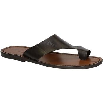 Schuhe Herren Sandalen / Sandaletten Gianluca - L'artigiano Del Cuoio 521 U MORO CUOIO Testa di Moro