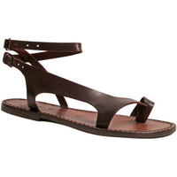 Schuhe Damen Sandalen / Sandaletten Gianluca - L'artigiano Del Cuoio 526 D MORO CUOIO Testa di Moro