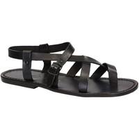 Schuhe Herren Sandalen / Sandaletten Gianluca - L'artigiano Del Cuoio 530 U NERO CUOIO nero