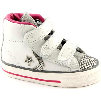 Schuhe Kinder Babyschuhe Converse 746384C white silver star plyr ev v4 Shoes All Star Baby Tränen Bianco