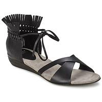 Schuhe Damen Sandalen / Sandaletten Fru.it TRIVENTA Schwarz