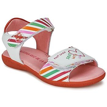 Schuhe Mädchen Sandalen / Sandaletten Agatha Ruiz de la Prada CAZOLETA Weiss / Multifarben