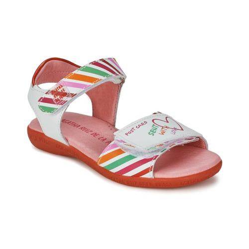 Sandalen / Sandaletten Agatha Ruiz de la Prada CAZOLETA Weiss / Multifarben 350x350