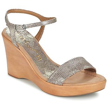 Schuhe Damen Sandalen / Sandaletten Unisa RITA Goldfarben