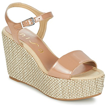 Schuhe Damen Sandalen / Sandaletten Unisa LITUAN Beige / Rose