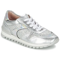 Schuhe Damen Sneaker Low Unisa DALTON Silbern / Weiss
