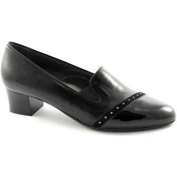 Ballerinas Melluso X5304 schwarze Schuhe Frau aufrecht Komfort elastische