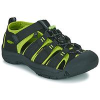 Schuhe Kinder Sportliche Sandalen Keen KIDS NEWPORT H2 Schwarz / Grün