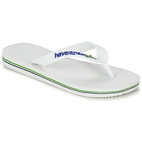 Schuhe Kinder Zehensandalen Havaianas BRASIL LOGO Weiss