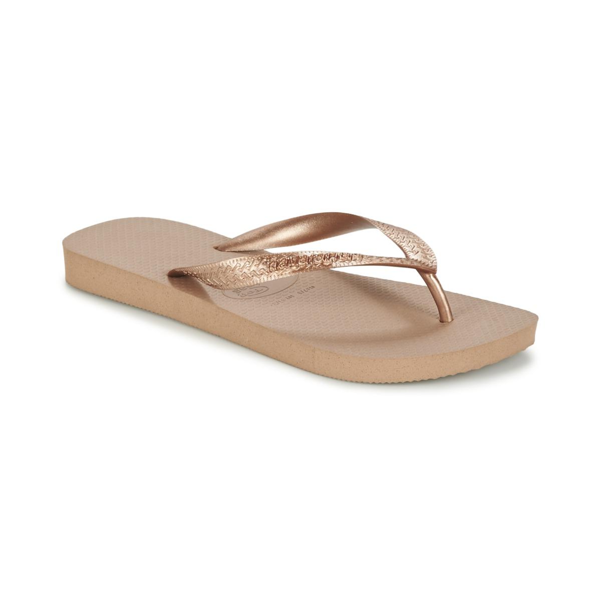 Havaianas TOP METALLIC Rose / Gold - Kostenloser Versand bei Spartoode ! - Schuhe Zehensandalen Damen 19,99 €