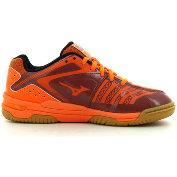 Schuhe Kinder Indoorschuhe Mizuno Wave Stealth 3 Jr orange