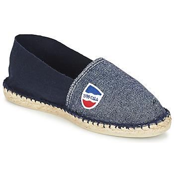 Schuhe Herren Leinen-Pantoletten mit gefloch 1789 Cala CLASSIQUE BICOLORE Marine
