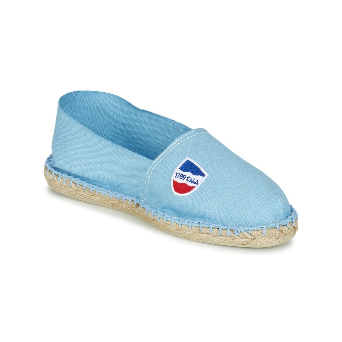 1789 Cala CLASSIQUE Blau - Kostenloser Versand bei Spartoode ! - Schuhe Leinen-Pantoletten mit gefloch  24,49 €