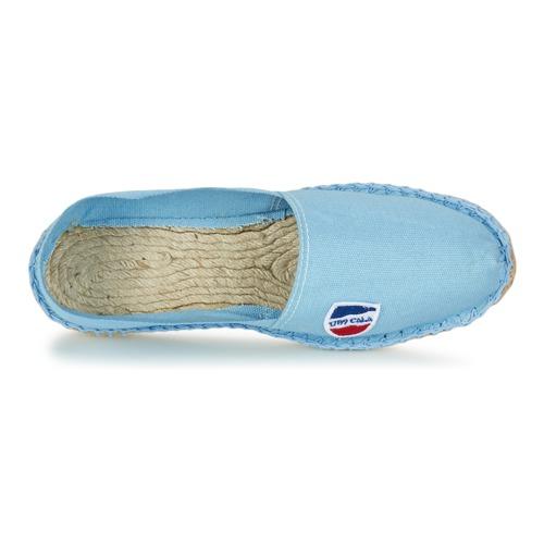 CLASSIQUE  1789 Cala  leinen-pantoletten mit gefloch    blau