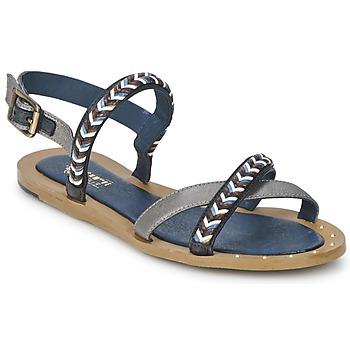 Schuhe Damen Sandalen / Sandaletten Schmoove MEMORY LINK Silbern / Marine