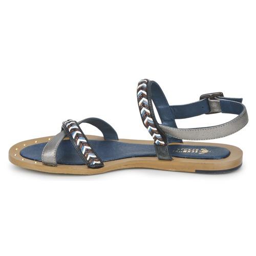 Schmoove MEMORY LINK Silbern / Marine  Sandalen Schuhe Sandalen  / Sandaletten Damen 74,50 3342a4