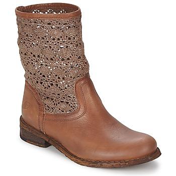 Schuhe Damen Boots Felmini GREDO Schokolade