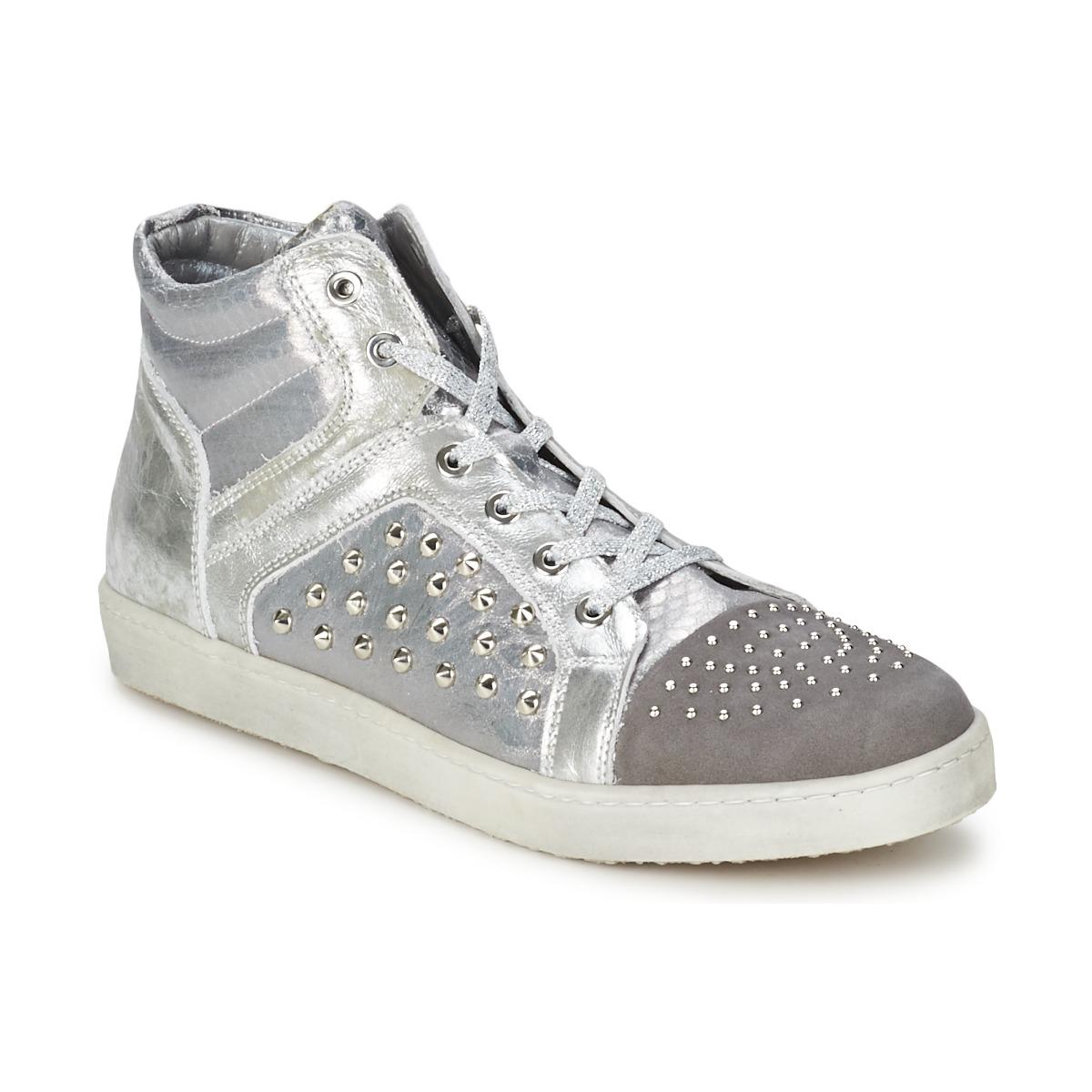 Hip 90CR Silber-krokodil - Kostenloser Versand bei Spartoode ! - Schuhe Sneaker High Damen 65,00 €